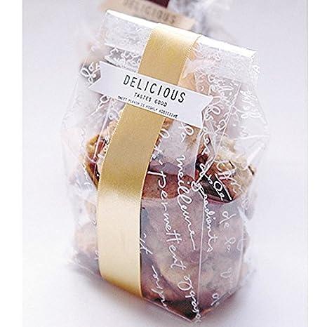 katoot @ transparente 100pcs/set Cookies bolsas papel Junta ...