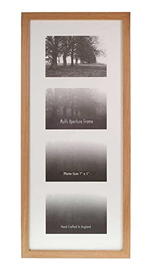 Wall Space Multi Aperture Frames To Fit 4 Photos Oak 7 X 5