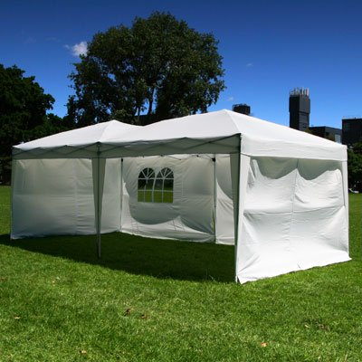 Palm-Springs-10-x-20-Pop-up-WHITE-Canopy-w-6-Side-Walls-EZ-to-set-up