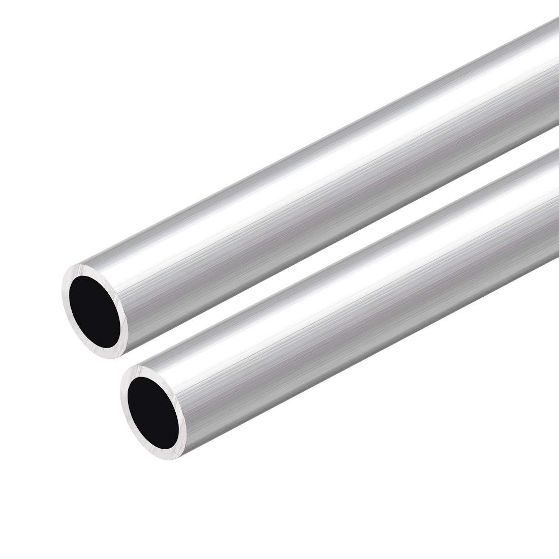sourcing map 6063 Aluminio Redondo Tubo 300mm Longitud 14-15mm OD Seamless tubos rectos de aluminio ID de 10 mm x OD de 14 mm 3 piezas