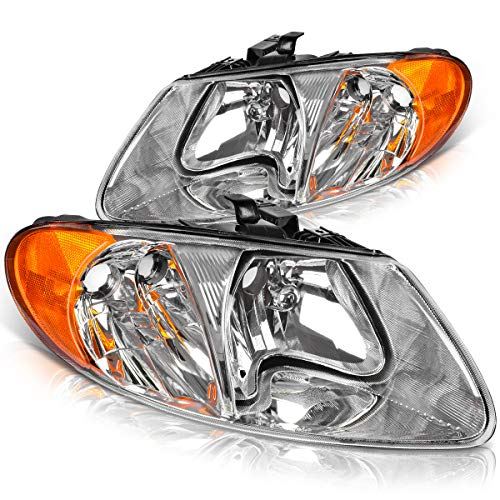 Headlight Assembly OE Style Headlamps Replacement for 2001-2007 Dodge Caravan, 01-07 Chrysler Town & Country / 01-03 Voyager