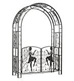 Metal Fairy Arbor with Gates - 53 W x 18 D x 88 H