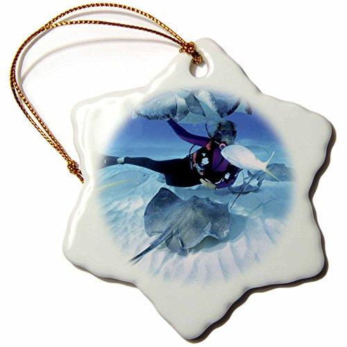 3dRose orn 75175 1 Snorkeling Caribbean Decorative
