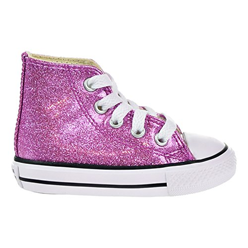 Converse Chuck Taylor All Star Glitter Hi Bright Violet Synthetic 7 M US Infant