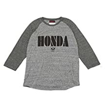 Honda YOSHIDA ROBERTO Raglan 7 parts sleeve T-shirt B gray / charcoal XL size 0SYTK-T5M-N1XL