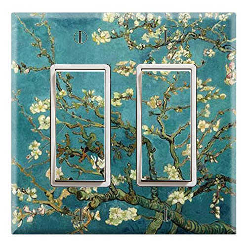 Graphics Wallplates - Almond Branches in Bloom by Van Gogh - Dual Rocker/GFCI Outlet Wall Plate Cover