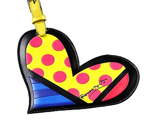 Romero Britto Heart Luggage Tag Name Bag Card Holder Travel Suitcase Baggage -