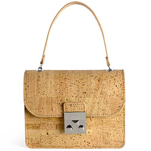 Corkor Mini Cork Handbag For Women Fashionable Vegan & Eco-Friendly Hands-Free Natural