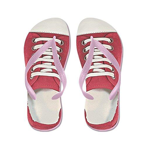 Cafepress Sneaker - Flip Flops, Roliga Rem Sandaler, Strand Sandaler Rosa