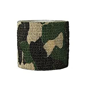 3 Rolls Outdoor Military Telescopic Camouflage Tape for Hunting Gun Accessories Cycling Tool Protective Camouflage Camo Fabric Wrap-01