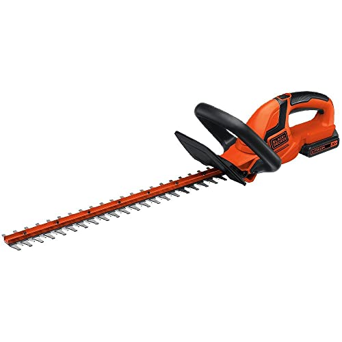1. BLACK+DECKER LHT2220 22-Inch 20-Volt Lithium Ion Cordless Hedge Trimmer, Includes 20v Battery