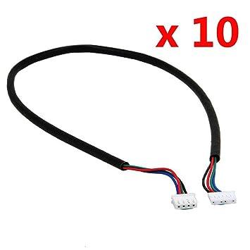 Hrph 10 Stück 100cm 4-adriges Kabel für Schrittmotor NEMA17 Welle ...