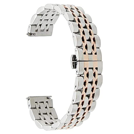 CWeep Stainless Stainless Steel Wrist Strap Band, Replacement 22mm ...