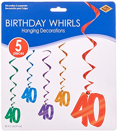 40 Whirls (asstd colors)    (40th Decorations)
