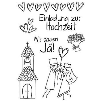 Efco Stempel Clear Einladung Zur Hochzeit, Transparent, A7/ 74 X 105 Mm,