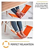 "Adjustable Under Desk Ergonomic Foot Rest Hammock for Office Home 17.7"" Wide, Foldable ABS Footrest with 99.2 Pounds Max Load to Relieve Tendon Pain and Improve Blood Circulation, Grey"