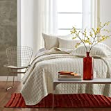 Oversized King Duvet Covers 118 X 98 Textile 3-Piece Quilted Bedspread Coverlet Set Comforter Set, 100% Cotton, Full/Queen (801 Beige)