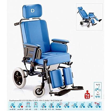 SURACE-Silla de ruedas, Con tapa desmontable y modelo ajustable Manualmente-588-