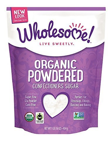 - Wholesome Sweeteners, Inc., Organic Powdered Confectioners Sugar, 16 oz (454 g) - 2pcs