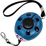 GYY 130dB Emergency Personal Alarm, Super Loud Self Defense Whistle Bag Decoration, Ideal Gift for Kids, Girls and Elderly, Blue/Black (Batteries Included)