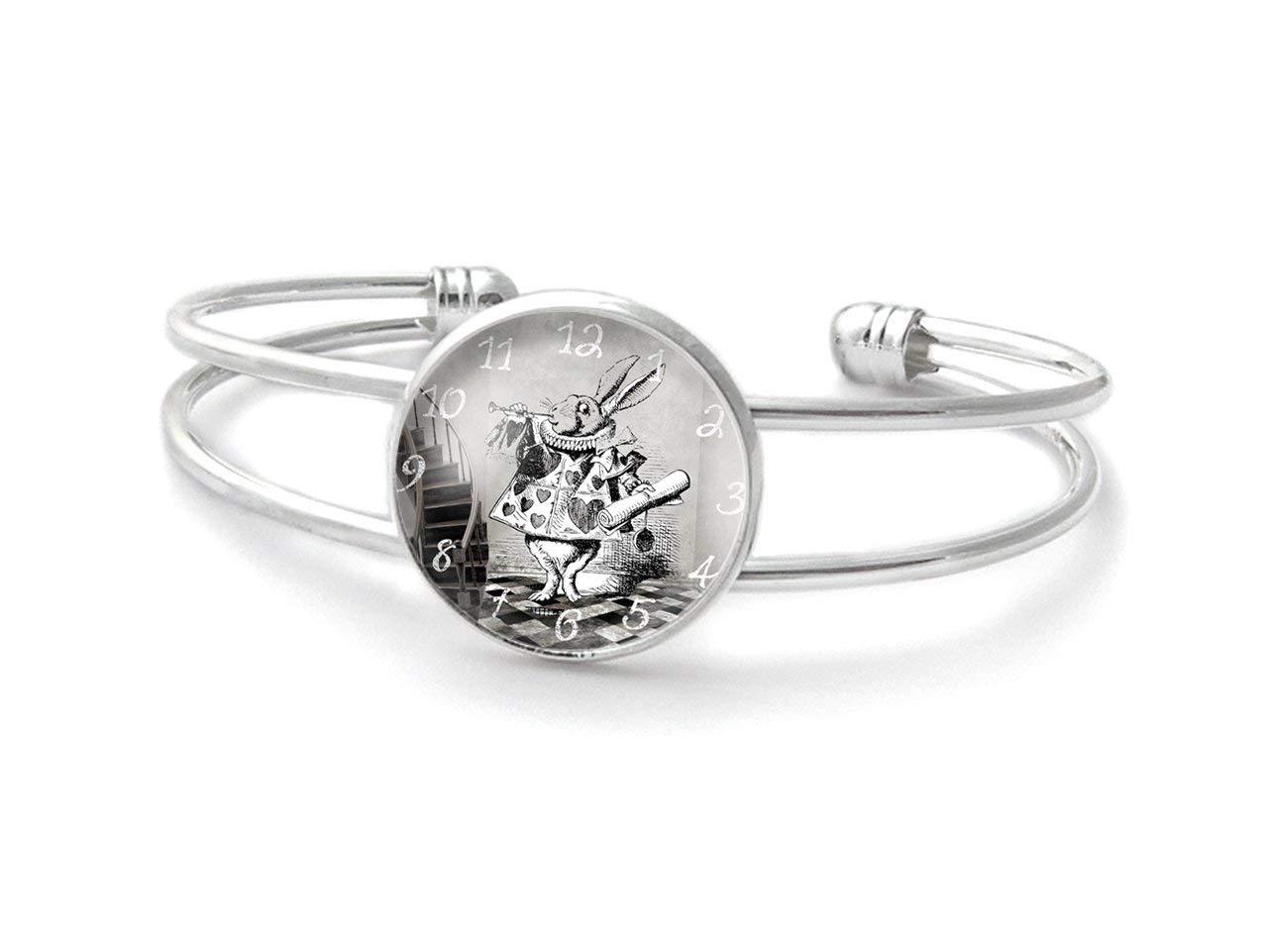 Armband mit cabochon /° Das wei/ße Kaninchen /°