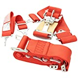 G-Force 6000RD Red 5-Point Pull-Down Latch and Link Individual Shoulder Harness Set