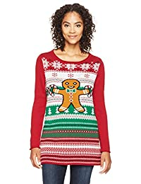 Ugly Christmas Sweater womens Light-up Gingerbread Man