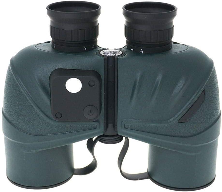 ZGQA-AOC Monocular telescopio de los prismáticos 7 * 50 Gran Aumento HD Prismáticos de Waterpoof and Ranging brújula Coordenadas de Crucero excursión la Caza Marina Verde Oscuro (Color: Azul Oscuro)