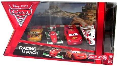 Four Disney (Disney) Cars 2 Mini Car Racer [McQueen / Francesco / shoe roar / Miguel] (japan import): Amazon.es: Juguetes y juegos