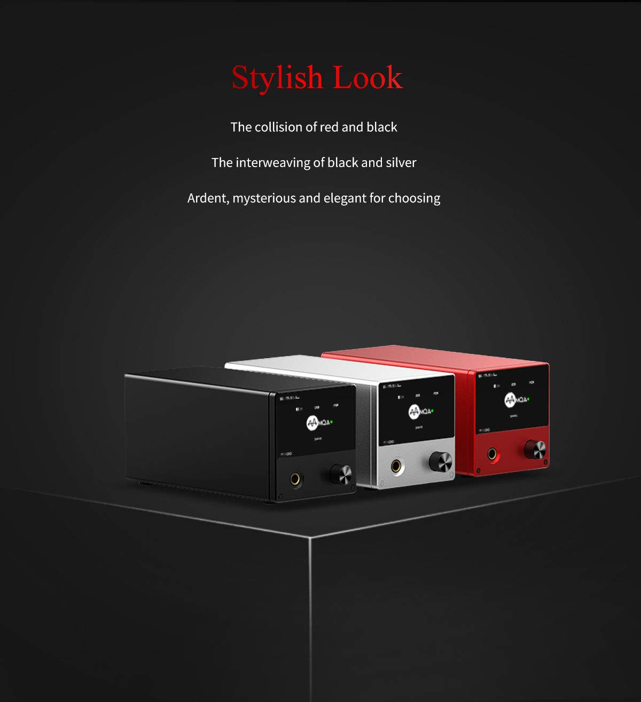 Black SMSL M500 MQA Decoder ES9038PRO ES9311 XMOS XU-208 32bit 768kHz DSD512 Hi-Res Audio DAC Headphone Amplifier