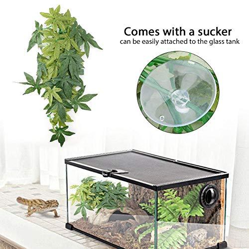 FTVOGUE Planta de simulación Fake Leaves Reptil Terrario Acuario Tanque de Peces Decoración submarina Ornamento(16inch40cm): Amazon.es: Productos para ...