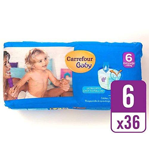 Carrefour bebé ultra tirón seco en el tamaño de 6 Pack Esencial 36 por paquete: Amazon.es: Salud y cuidado personal