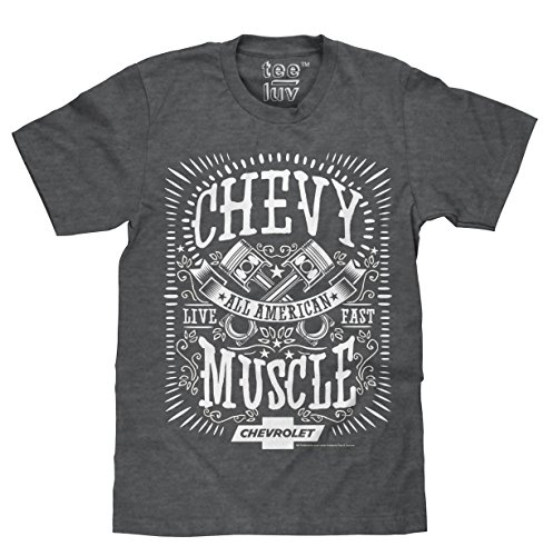 Price comparison product image Chevrolet All American Soft Touch Tee-LG Dark Heather