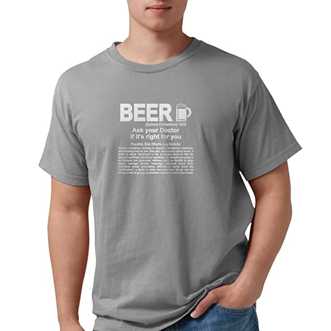 201e10e21 CafePress Funny Beer, Ask Your Doctor If It's Right For You Mens Comfort  Colors Shirt