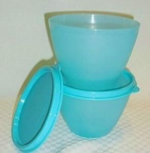 Tupperware Refrigerator Bowls Set of 2 in Aqua