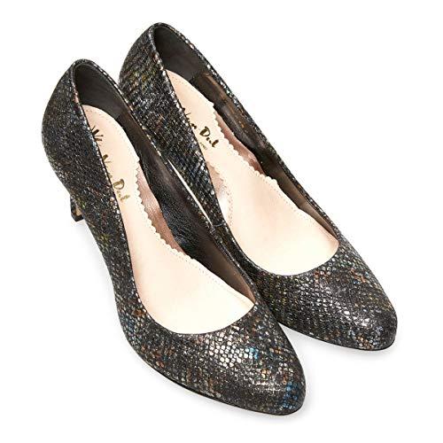 Women's Ii Dal Toe Viper Van Print Black Closed Albion Heels wTRqtxUg