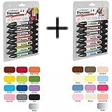 Bundle Buy - Letraset Promarker 12 Pen Set One & Promarker 12 Pen Set Two - Plus 1 Blender Pen in Each Set (Total 26 Pens)