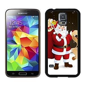 linJUN FENGProvide Personalized Customized Santa Claus Black Samsung Galaxy S5 Case 34