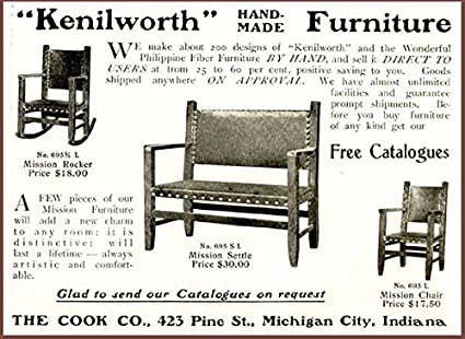 Pleasing Amazon Com 1903 Ad For Kenilworth Mission Style Furniture Inzonedesignstudio Interior Chair Design Inzonedesignstudiocom