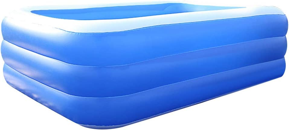 Garden S Water Baby Pool Backyard Family Inflatable Swimming Pool Full-Sized Kiddie Pool for Summer Water Party Family Swimming Pool for Outdoor Ages 5+