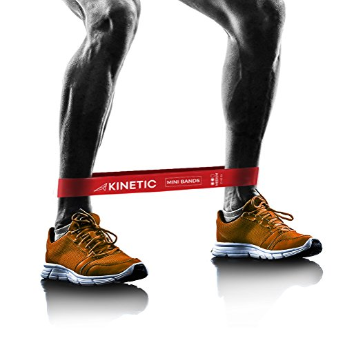 KINETIC Exercise Resistance Loop Bands | Best for At-Home Workouts, P90x, Physical Therapy, Yoga, Pilates, Crossfit, Booty Building | Set of 3 Premium 12' Bands | Instructional Booklet, Carrying Bag.