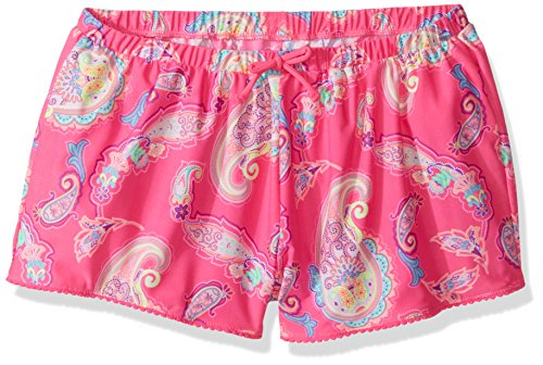 The Children's Place Girls' Big Pom Short, Neon Berry L (10/12)