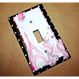Ooh Lala Paris Poodle Girls Bedroom Light Switch Cover LS0074 (Single Cable)