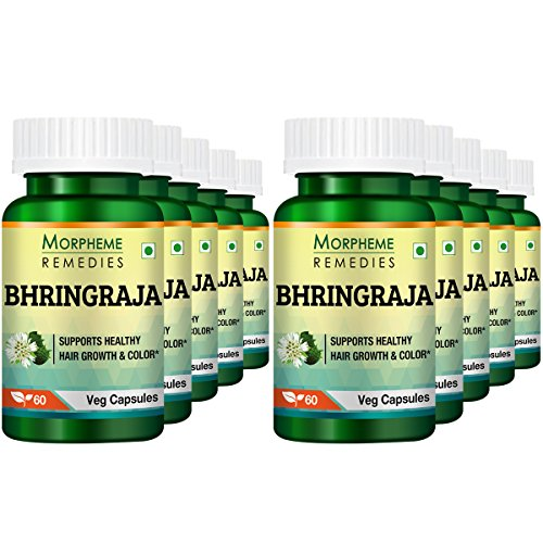 Morpheme Remedies Bhringraja (Eclipta Alba) 500mg Extract 60 Veg Caps (Pack of 10)