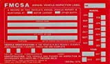 J.J. Keller 54SN Annual Vehicle Inspection Label 20-Pack