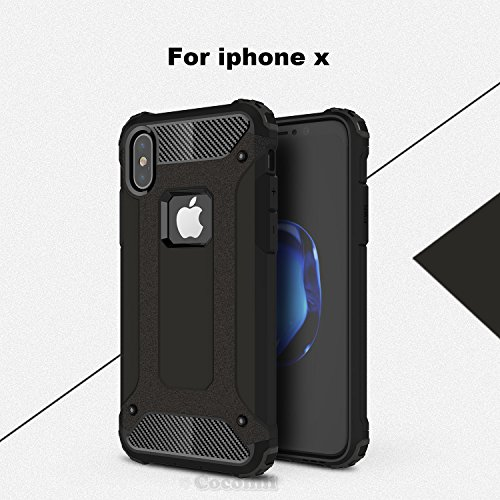 iPhone X Case, Cocomii Commando Armor NEW [Heavy Duty] Premium Tactical Grip Dustproof Shockproof Hard Bumper Shell [Military Defender] Full Body Dual Layer Rugged Cover Apple (Black)