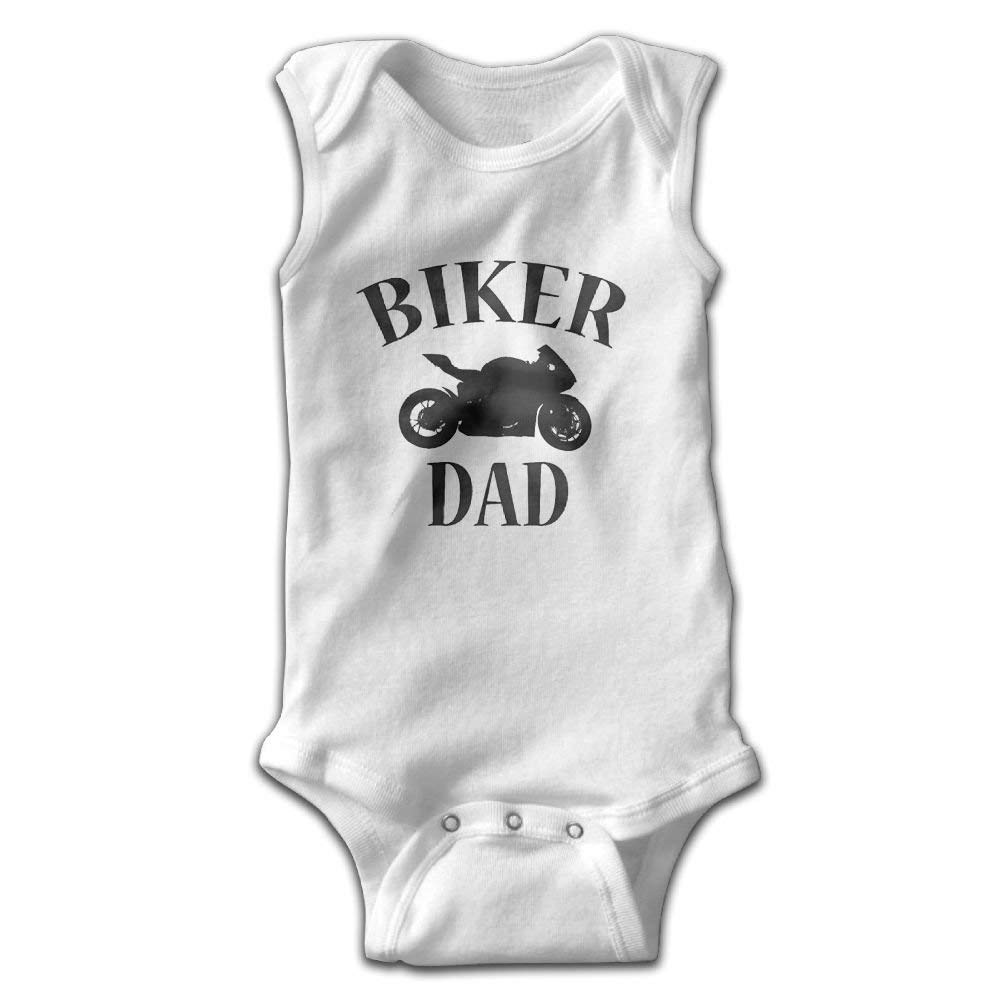 Zuo Hong Biker Dad Infant Baby Sleeveless Bodysuit Romper