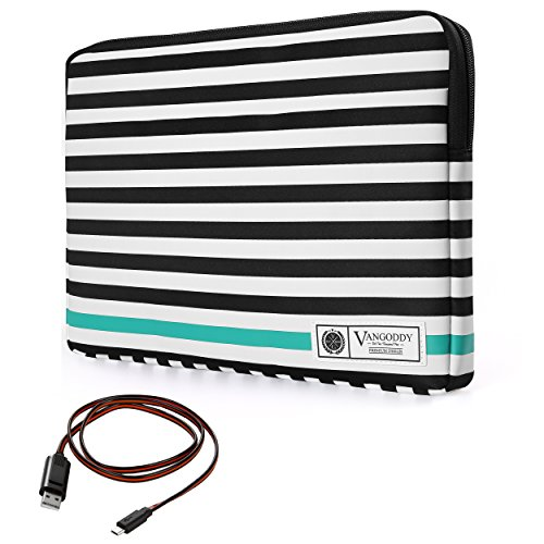 vangoddy-luxe-b-series-black-white-stripe-17-inch-compact-padded-carrying-sleeve-for-hp-envy-17-omen