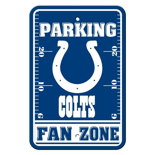 - BSS - Indianapolis Colts NFL Plastic Parking Sign (Fan Zone) (12 x 18)