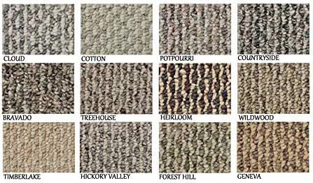 5 x8 – Cotton ECONOMICAL Solutions Starlight Collection 20.5 Oz. Scroll Loop Carpet Custom Area Rugs, Mats Runners. Durable Tight Weave, 12 Multi Colored Choices.
